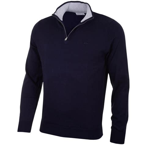 High Neck Pullover lacoste mens ah5439 zip neck sweater jumper high neck