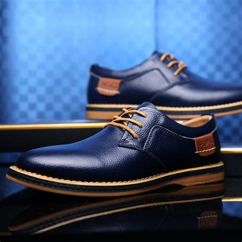 44 dress shoe casual leather dress shoes for business office size 38 44 sale brand fashion flat
