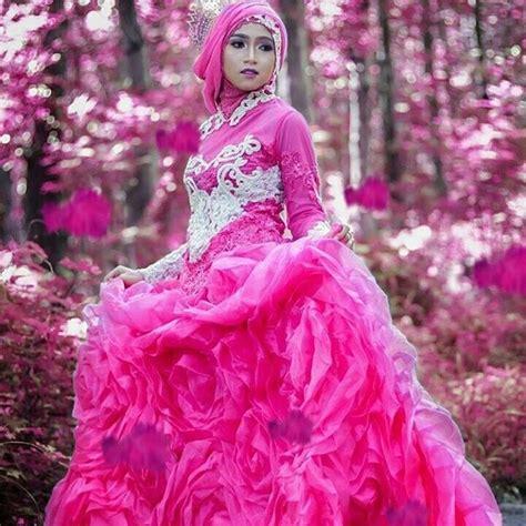 desain gaun terindah 18 gaun pernikahan muslimah syar i model terbaru
