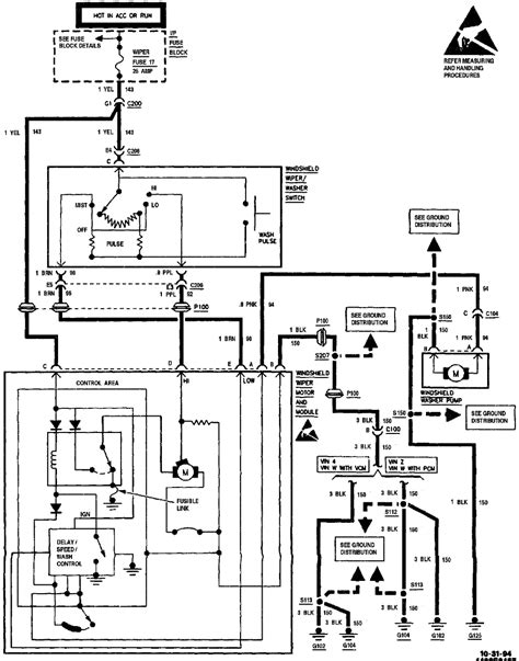 1994 chevy silverado wiper motor wiring diagram 1994