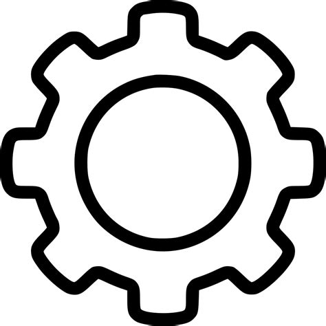 Outline Icon by Outline Gear Svg Png Icon Free 537102 Onlinewebfonts