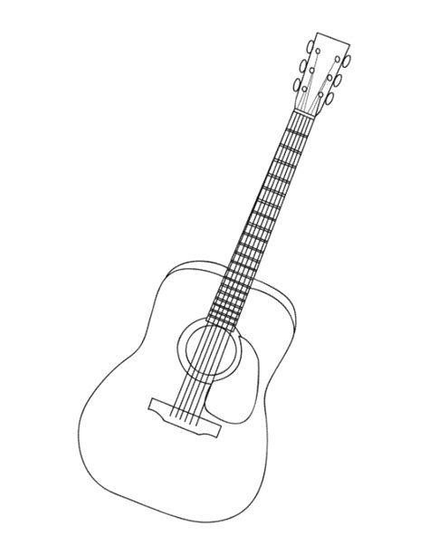 guitar coloring pages acoustic guitars colouring pages sketch coloring page