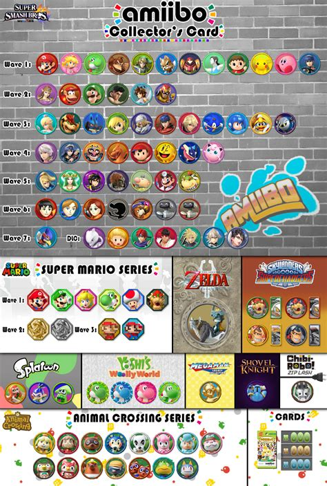 Amiibo Card Template amiibo collector s card template v5 1 by superaj3 on