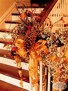 Decoration For A Banister 35 Cozy Fall Staircase D 233 Cor Ideas Digsdigs