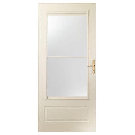 Self Storing Door by 36 In X 80 In 400 Series Almond Aluminum Self Storing