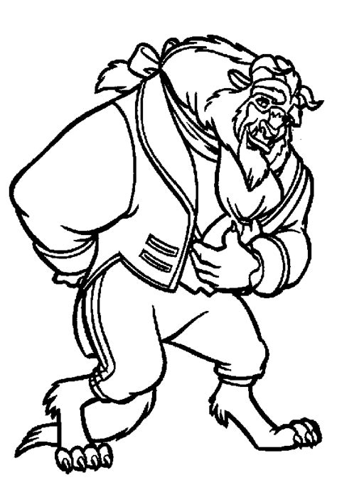 beauty and the beast coloring pages coloringpagesabc com