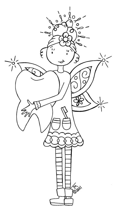 coloring page of tooth fairy free coloring pages of toothfairy
