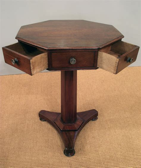 octagon table antique octagonal table octagonal drum table small drum