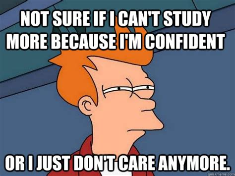 Study Memes - not sure if i can t study more because i m confident or i