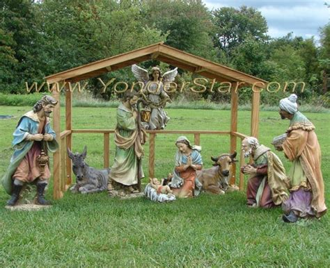 christmas mangers for sale outdoor nativity with wooden stable yonder shop llc