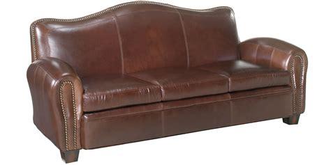 Camelback Leather Sofa Leather Camelback Set Club Chair Loveseat Sofa Ottoman W Trim