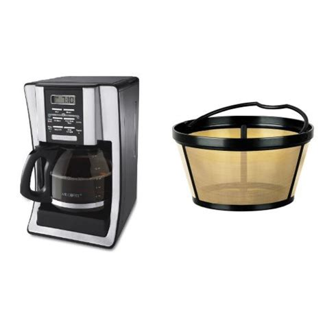 Mr. Coffee BVMC SJX33GT 12 Cup Programmable Coffeemaker and Mr. Coffee GTF2 1 Basket Style Gold