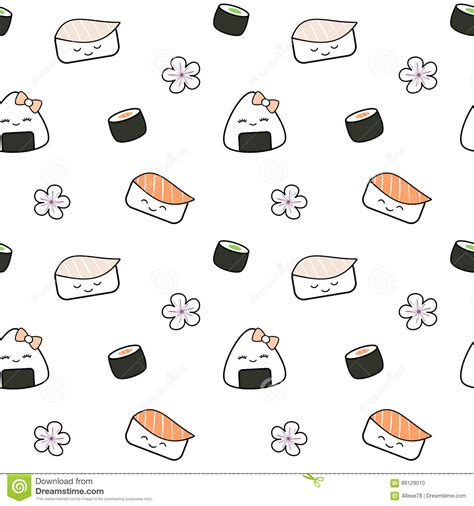 meal pattern of japanese cuisine cute sushi background www pixshark com images