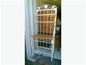 White Metal Bakers Rack White Metal Wood Dining Bakers Rack Central Nanaimo Nanaimo