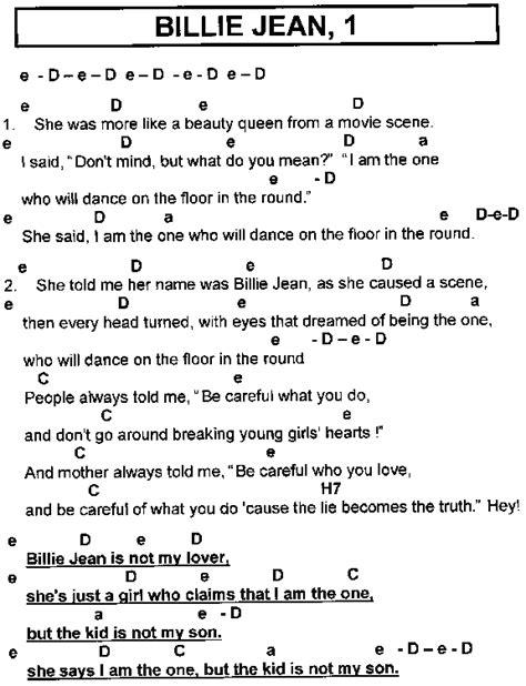 Billie Jean Guitar Chords