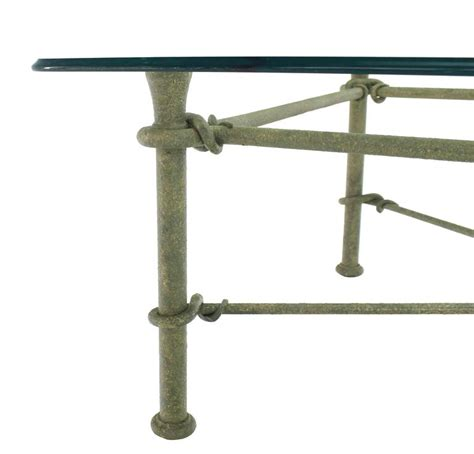 Rectangle Wrought Iron Base Glass Top Coffee Table For Wrought Iron Coffee Table With Glass Top