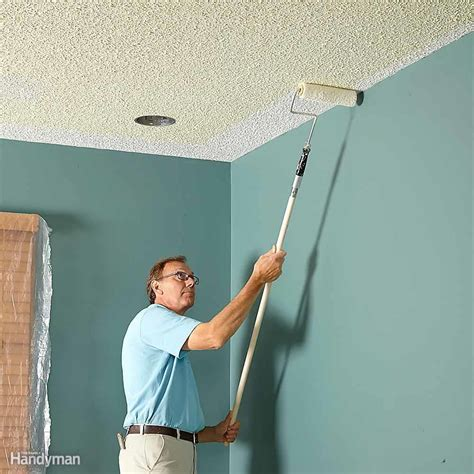 Cleaning Textured Ceilings by How To Paint A Ceiling Family Handyman
