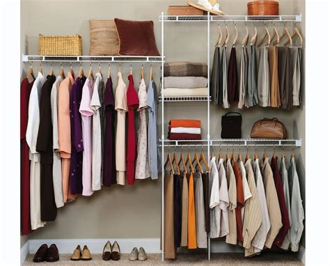 Closet Clothing Co by Closet Organizer Shelves System Kit Shelf Rack Clothes Storage Wardrobe Hanger Ebay