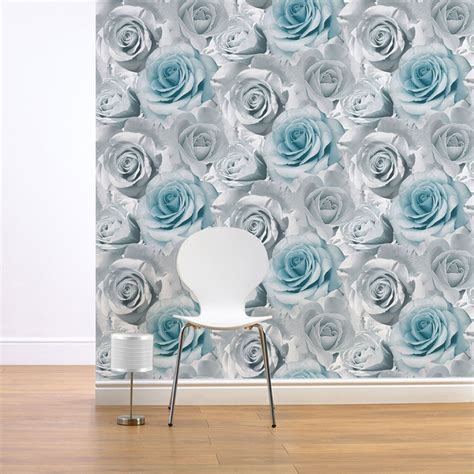 green wallpaper for feature wall madison rose wallpaper muriva available in green natural