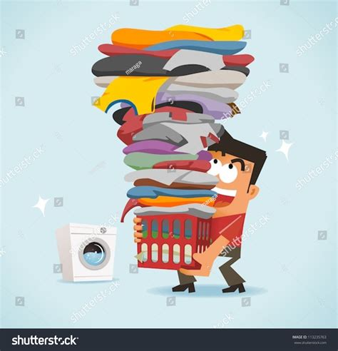 big laundry big laundry day stock vector illustration 113235763