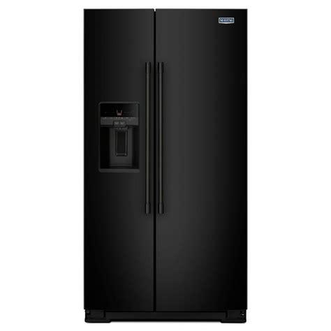 maytag 36 in w 26 cu ft side by side refrigerator in