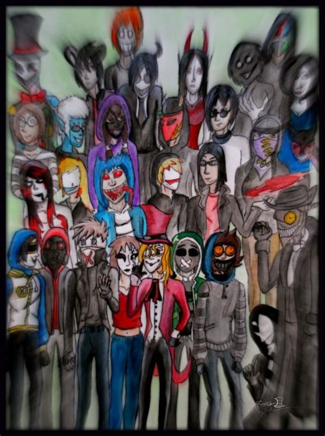all creepypastas all creepypasta characters list search