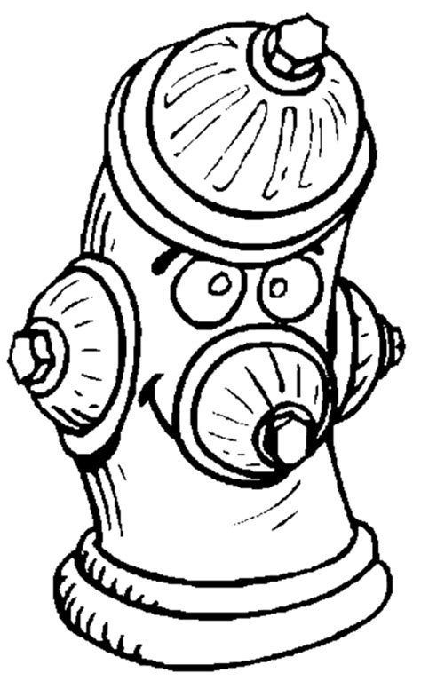 Free Coloring Pages Of Fire Hydrant Hydrant Coloring Pages