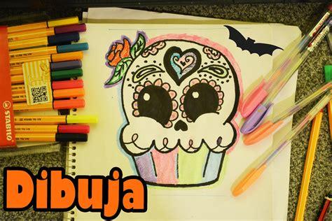 imagenes de calaveras kawaii calaverita cupcake aprende a dibujar kawaii dia de muertos