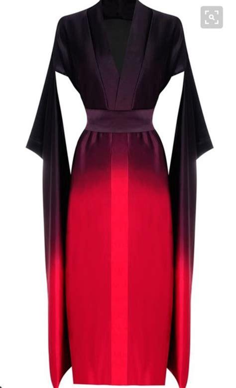 dress coture ombre red black black dress red dress