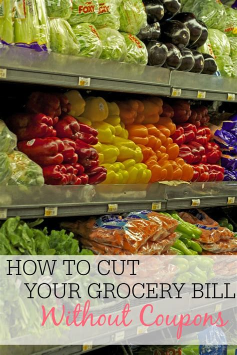 cut  grocery bill   coupons