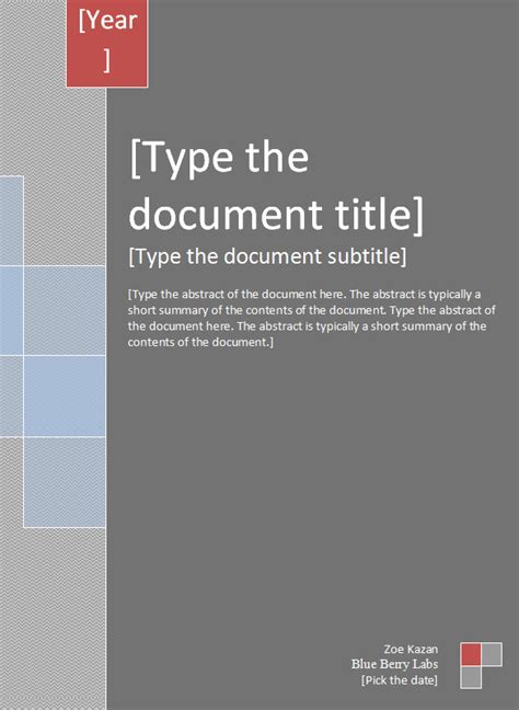 report cover template   word documents   premium templates