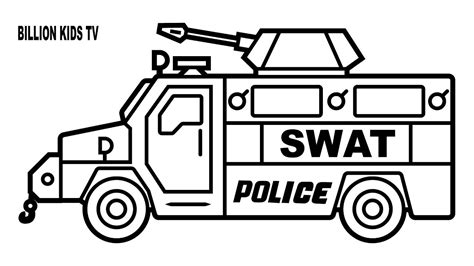 how to draw a police boat drawing swat police truck coloring page youtube