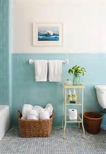 Blue subway tile vintage bathroom rue magazine