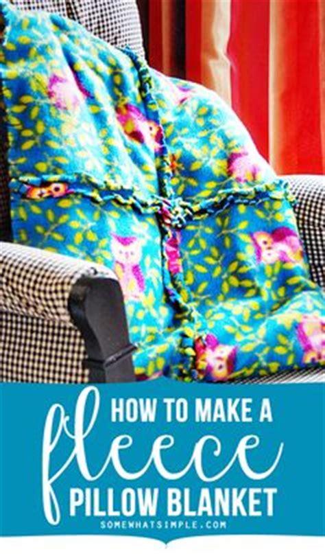 no sew fleece pillow how to make fleece tie
