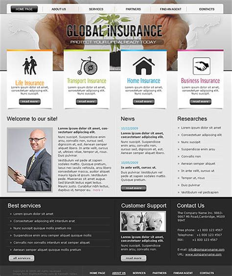 insurance site template insurance html template 110540 simple templates