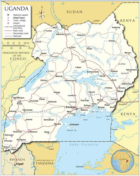 uganda on world map uganda map map of uganda uganda map in