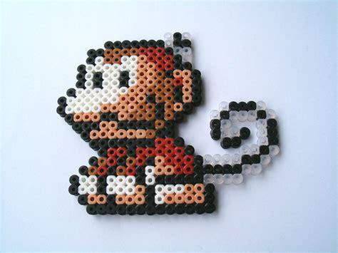 bead monkey yoshis island monkey mario hama perler bead perler