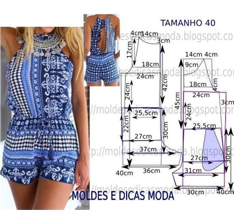 pattern drafting jumpsuit molde de macac 195 o coral com medidas e passo a passo chart