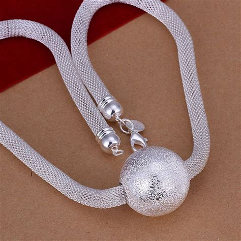Kalung New Listing Fashion Jewelry Chain Rhinestone Colla new listing sell silver plated frosted network chain charm necklace fashion