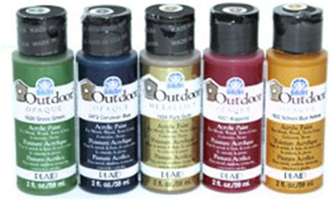 plaid folkart outdoor paint acrylic paint for outdoor surfaces