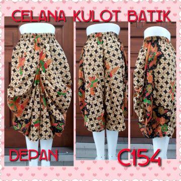 jual new model celana kulot batik model elegan murah baru celana panjang wanita berkualitas