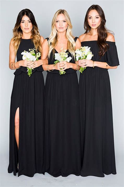 black bridesmaid dresses for every style of wedding don t miss these 22 black bridesmaid dresses for your fall