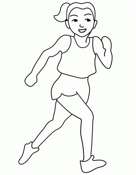 coloring pages of a running free printable olympic runner coloring page