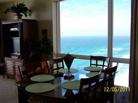 3 bedroom condos in panama city beach fl fantastic ocean views from side window by dining area