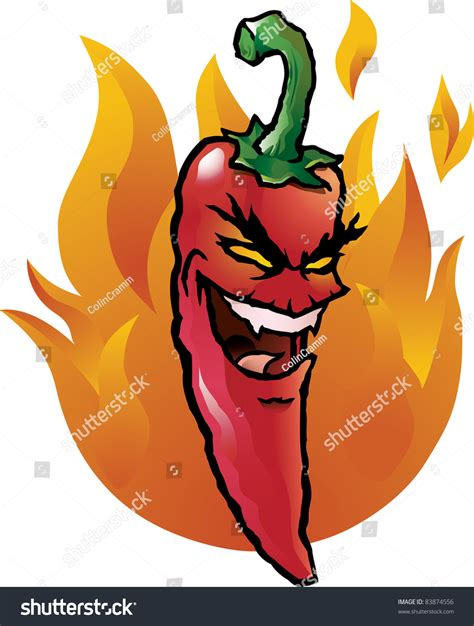 funny hot pepper images cartoon illustration of an evil looking red hot chili