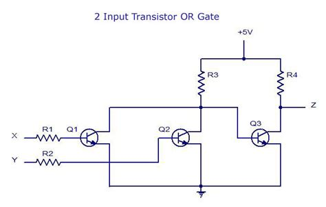 transistor nor gate circuit digital electronics logic gates basics tutorial circuit symbols tables
