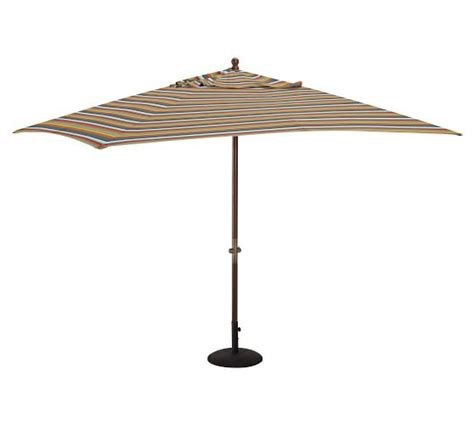 Rectangular Sunbrella Patio Umbrellas Rectangular Market Umbrella Newport Stripe Sunbrella 174 Pottery Barn
