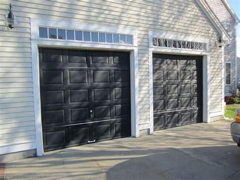 Mortland Overhead Door Haas Model 680 Steel Raised Panel Garage Doors In Black Installed By Mortland Overhead Door