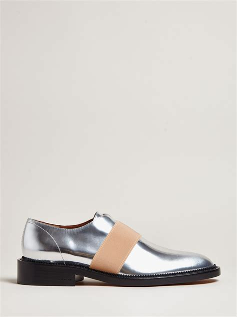 iridescent oxford shoes lyst givenchy metallic oxford shoes in metallic