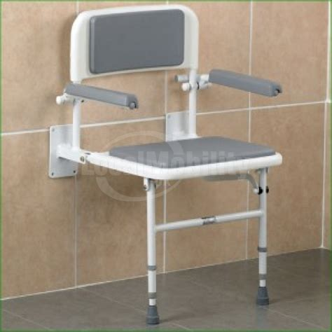 wall mounted padded shower bench wall mounted shower seat with back arms padded local